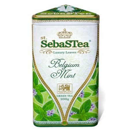 Herbata zielona Belgium Mint 100g SEBASTEA