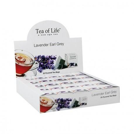 Tea Of Life Herbata czarna Earl Grey z lawendą w piramidkach