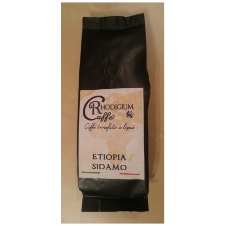 ETIOPIA SIDAMO Kawa ziarnista 100% arabica 250g RHODIGIUM CAFFE