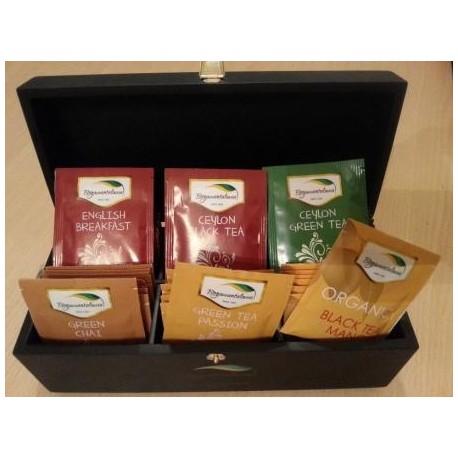 Zestaw herbat cejlońskich w drewnianej skrzynce 6x8x2g Bogawantalawa