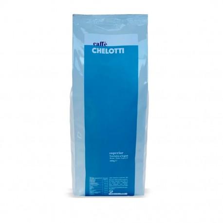 Włoska kawa Chelotti Superior 1kg, palona drewnem, ziarnista, 100% Arabica
