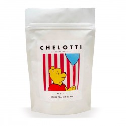 Guji Etiopia Organic Specialty coffees, Chelotti 250g, ziarnista, 100% Arabica